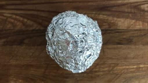 aluminum foil ball instead of a dryer sheet