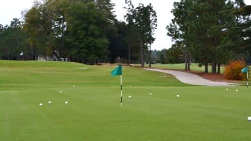 golf course using recycled golf balls