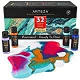 Arteza Acrylic Pouring Paint Set 32 Colors