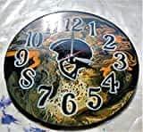 Acrylic Paint Abstract Vinyl Record Wall Clock